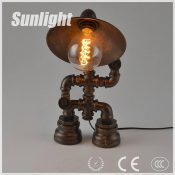 Steampunk Lamp Robot Lamp Water Pipe Lighting Table Lamp