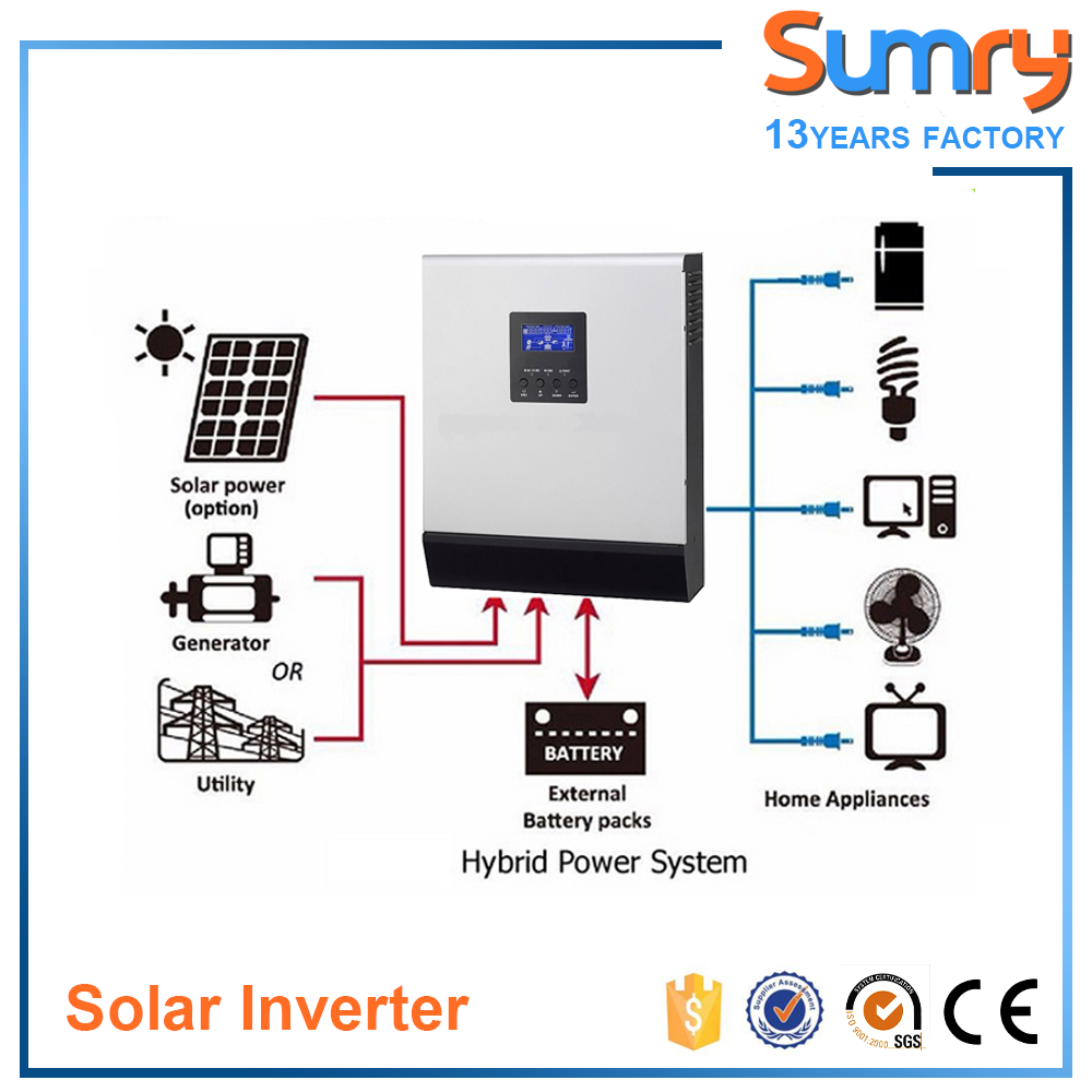 MPS Parallel Function 48V 5KVA 4000W MPPT Hybrid Solar Inverter with Charger Inverter Air Condition