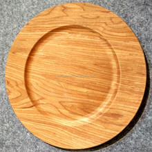 Not for food use wood face plastic wholesale charger plates