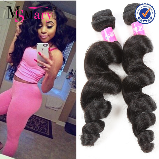 wholesale 7a grade unprocesed virgin loose wave 14 inch peruvian human hair weave bundles
