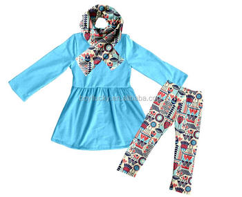 beautiful girls clothing 2 pieces remake boutique kids pants outfits in fall