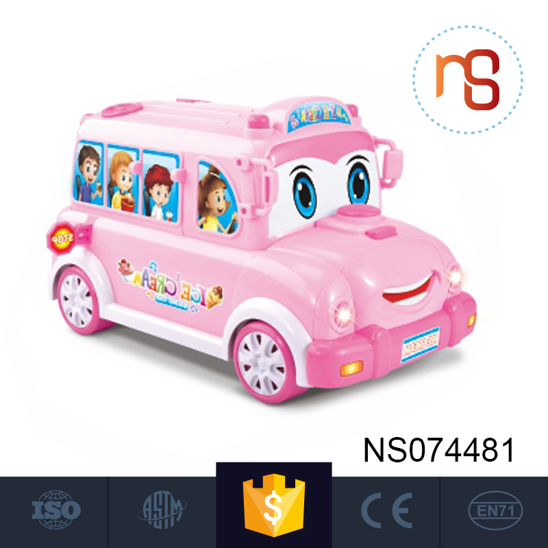 Best selling cartoon cute mister softee plastic car toys for kids drive