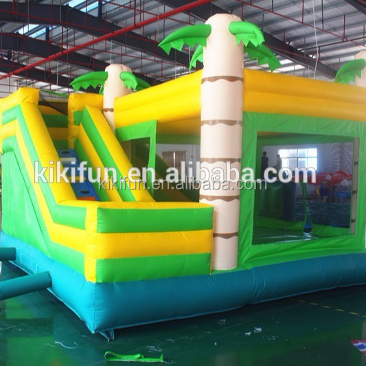 China manufacturer inflatable bouncy castle bouncer jumping house with water slide prices for kids