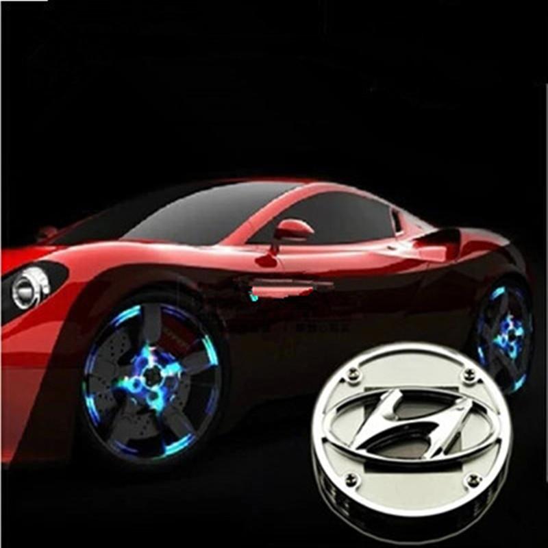 Hyundai i40 i30 соната Elantra ix35 солнечной энергии колеса из светодиодов свет центра автомобилей неон Hub SolarPower лампы декоративные светильники
