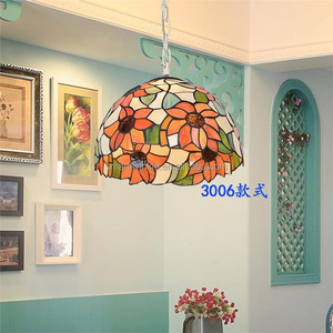 2017 new style factory price Tiffany glass pendant lamp Stained Glass flowers Tiffany Style ceiling Lamp
