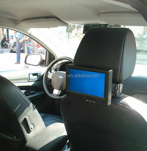 7 inch lcd cab car taxi headrest video advertising screen