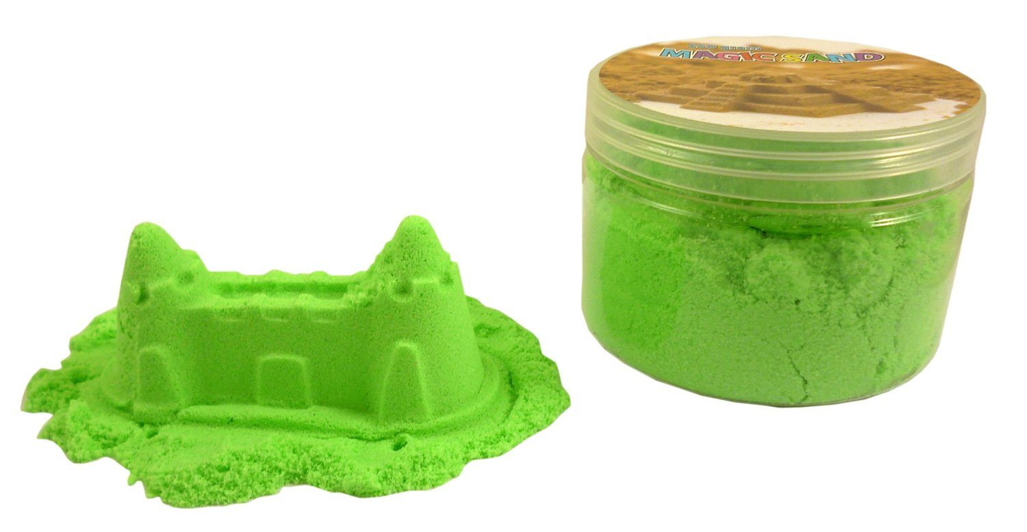 Magic Sand Refill - 250g- GREEN - Play Sand With No Mess! - Sculpture, Mold A...