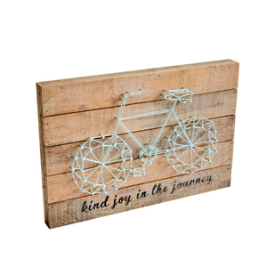 Handmade Wall Hanging Decorative bicycle Wood Wall nails string art kit