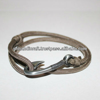 Tan Paracord Hook Bracelet