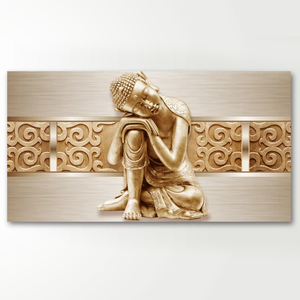 HD Classical Buddha Image Prints Long Stretched 3D Gloden Buddha Canvas Paintings