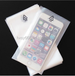 Plastic frosted cell phone / mobile phone packaging flat poly bag pocket