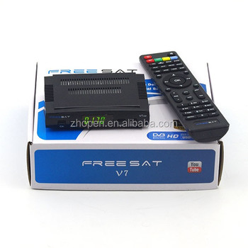 cheap price full star track hd receiver biss key freesat v7 with enigma 2 with satellite receiver wifi