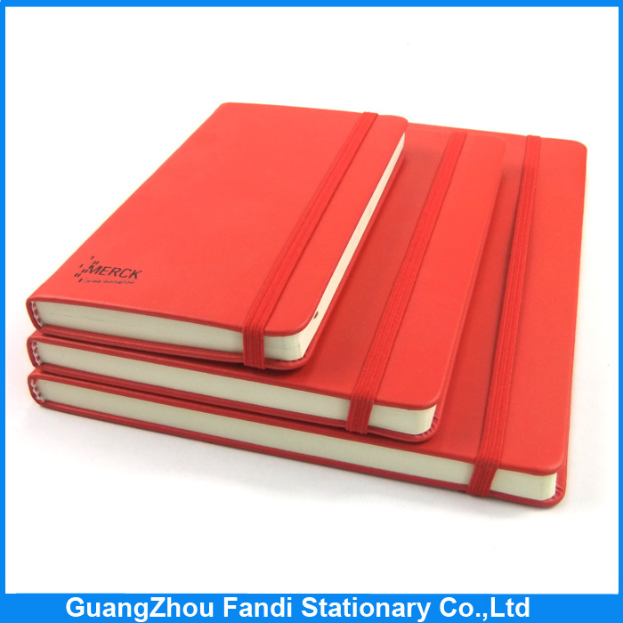 a4 a5 b5 b6 pu leather cover pocket notebook with elastic band
