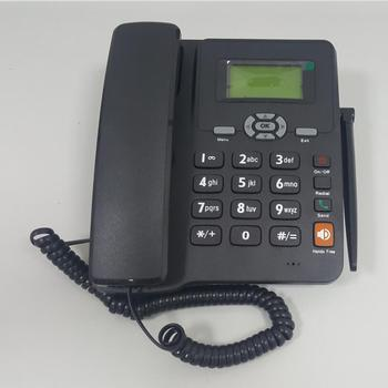 Wireless landline phone with gsm slot