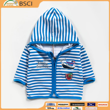 High Quality Fashion Breathable Children Zipper Coats for Boys Zipper Unlined Upper Garment