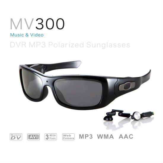 2012 cheap bluetooth DVR MP3 Sunglasses,3.0 mega pixels,wiht MP3 Support PC Camera