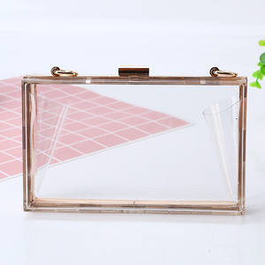 Factory direct wholesale clear acrylic clutch bag brand new clutches classic transparent evening bag for party banquet wedding
