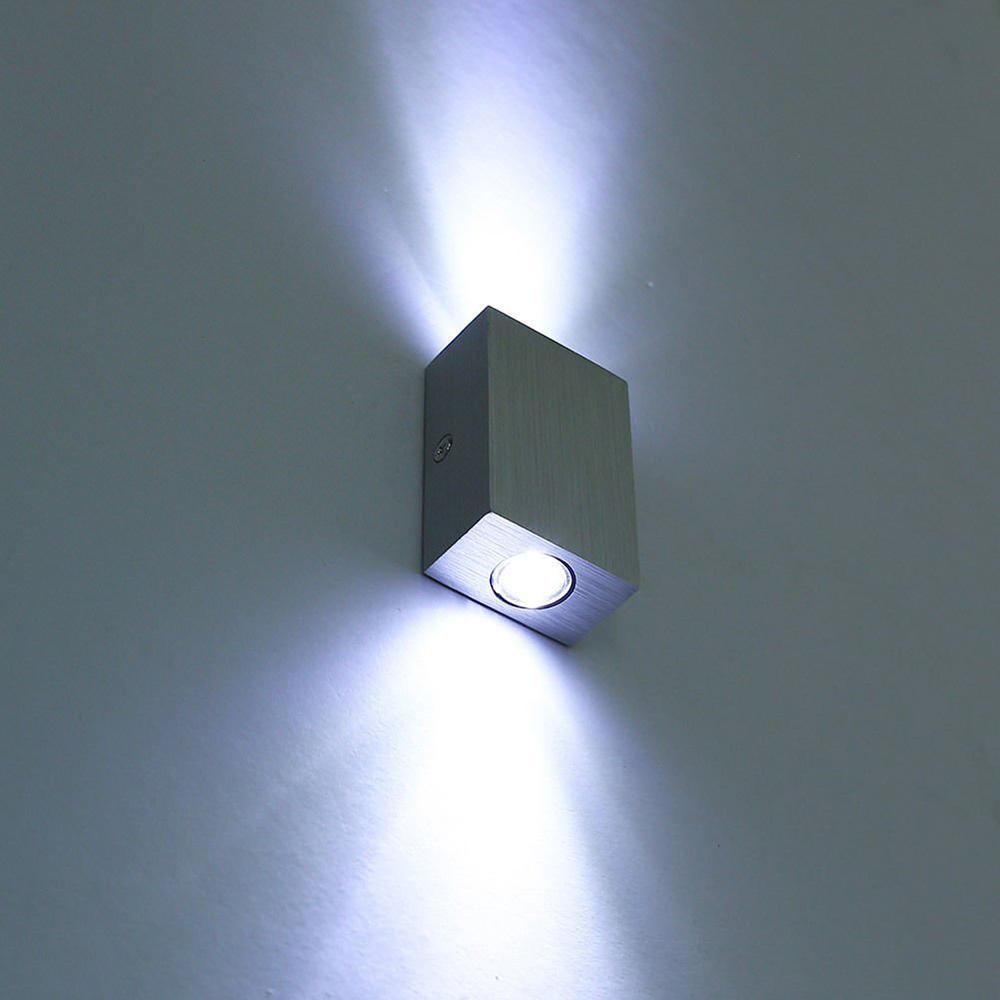 modern 6w 2 3w led wall lamp sconce night light fixture. Black Bedroom Furniture Sets. Home Design Ideas