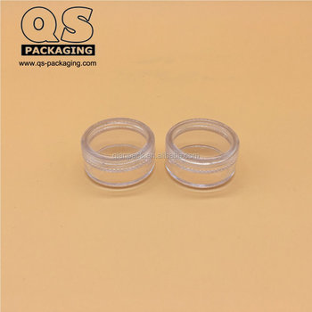 Mini clear Plastic Jars in low profit, Cosmetic Containers with Lids 5 Gram manufacturer