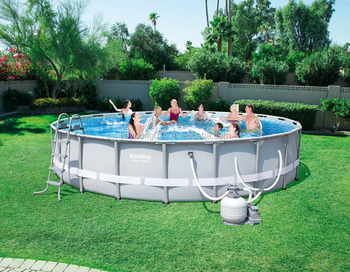 20 Ftx48 In Bestway Steel Frame Pools Large Above Ground