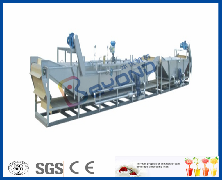 Water bath juice pasteurization machine