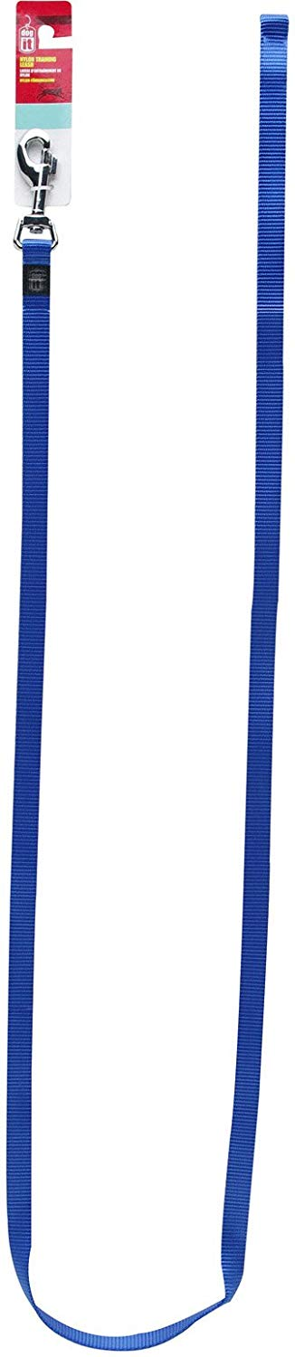 Dogit Nylon Single Ply Training Dog Leash, Medium, Blue