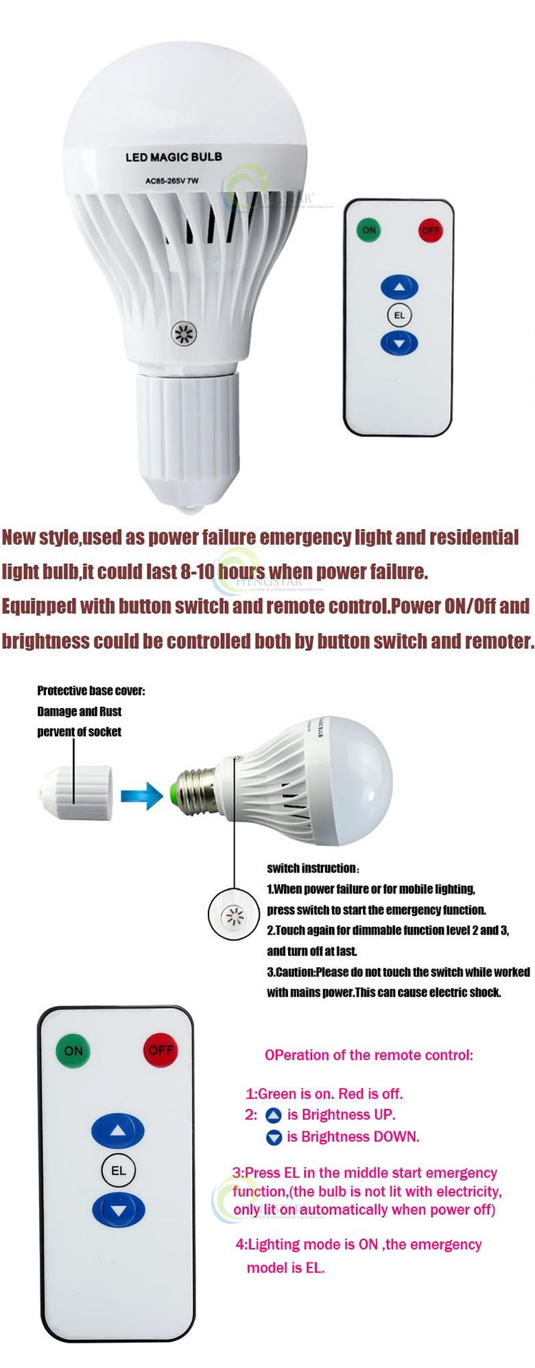 Smart Intelligente Nood LED Lamp Licht 5W 7W 9W 12W 15W Oplaadbare LED Nood Lamp