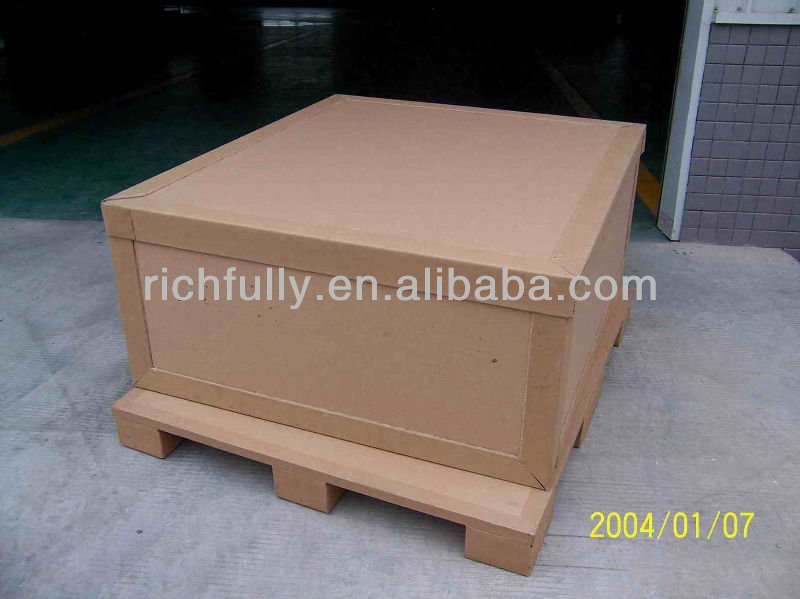 Heavy duty waterproof paper pallet and box