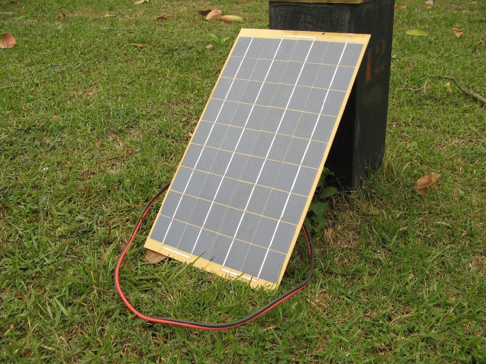 30w 12v solar panel kit home battery camping carava solar. Black Bedroom Furniture Sets. Home Design Ideas