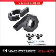 "Horizontal Bar Clamp Mounting Kit 1""/ 1.5""/ 1.75""/ 2"" Clamp Bar Roof Roll Cage Tube Mounting Brackets"