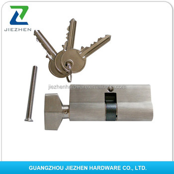 Double Normal Computer Brass Handle Magnetic Car Garage Euro Profile