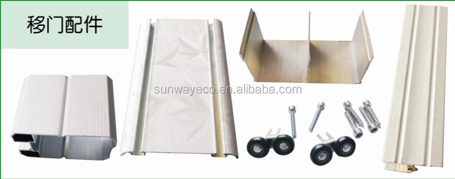 parts for wardrobe sliding door made of WPC material