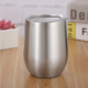Wholesaler Double Layer Stainless Steel Reusable Coffee Cup With Cover