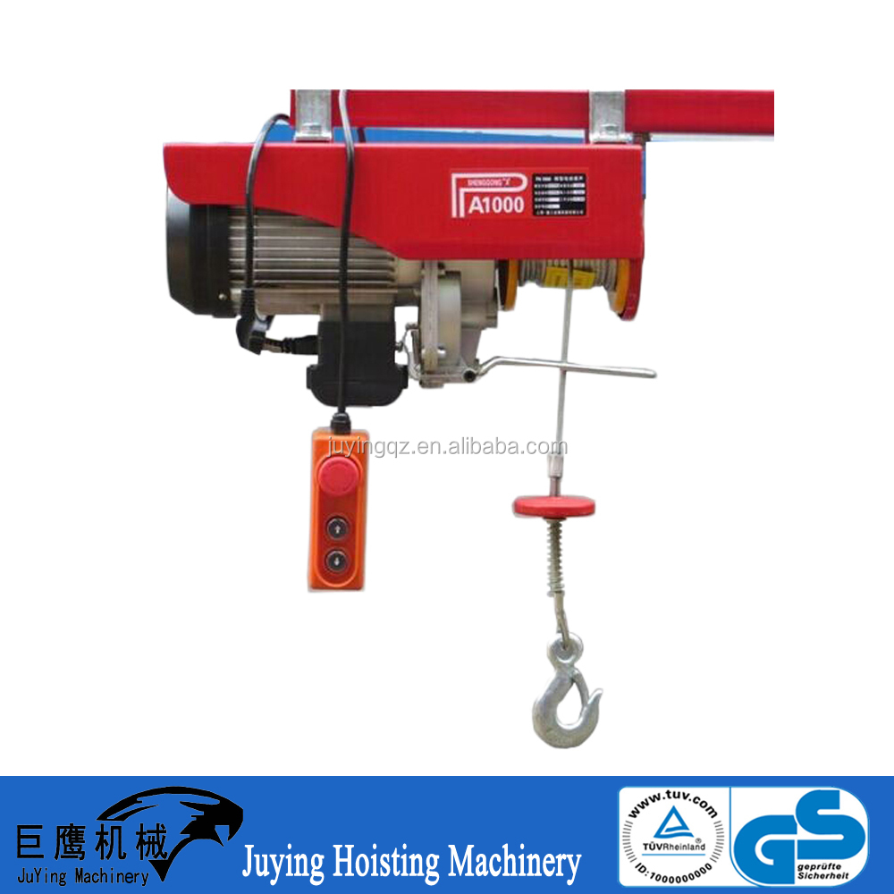 PA pulling cable tool light equipment wire rope sling price mini electric hoist 1200kg