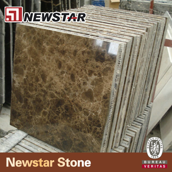 Precut marble stone tile dark emperador spain for bathroom flooring