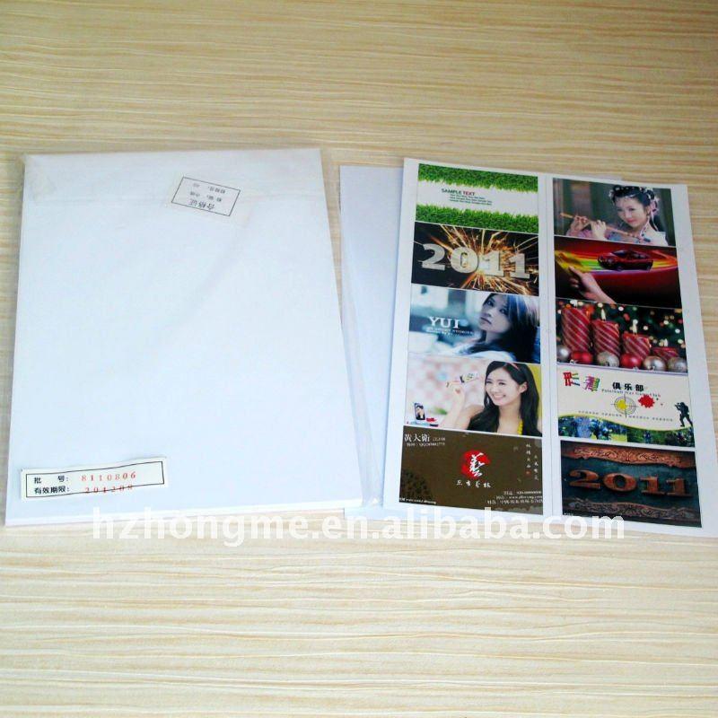 Inkjet Printing Pvc Sheet White A4 Size Water Proof