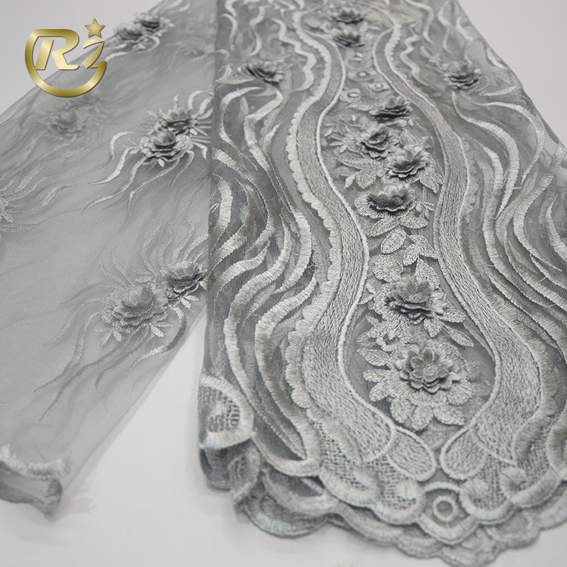 Hx Latest Popular Designs Gold Stones Fabric 5 Yards African Lace Fabric High Quality Indian Milk Silk Lace Fabric White Wedding Home & Garden