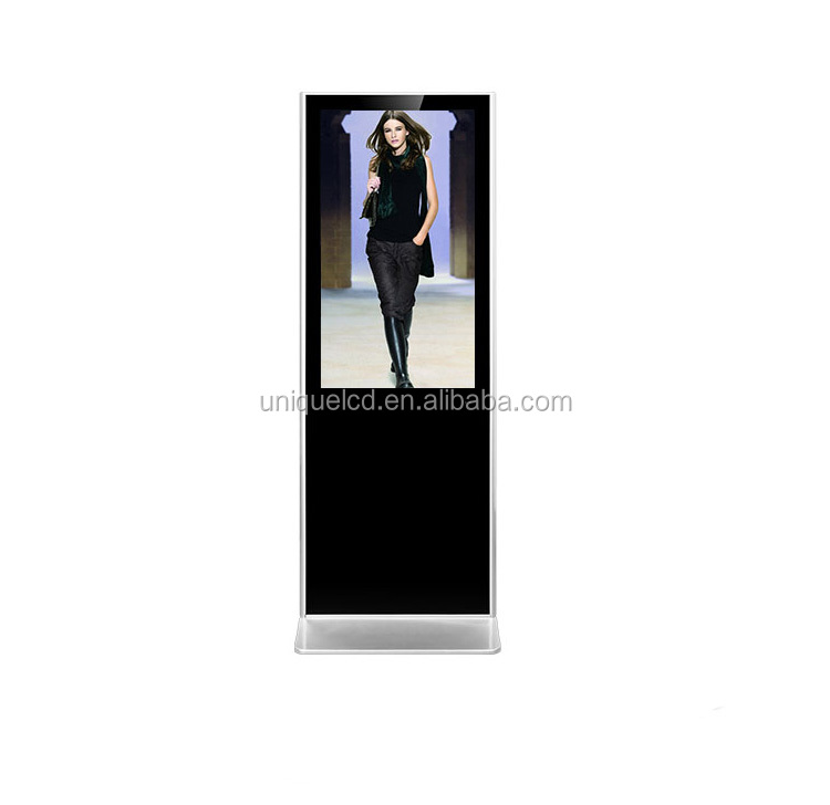 Advertising display 65 inch free standing network smart media player