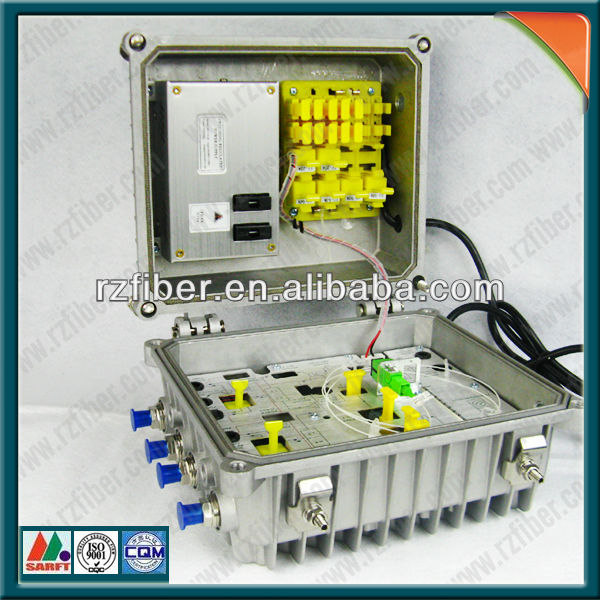 Aluminium Housing waterproof HFC network optical fiber node