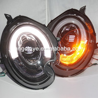 For BMW Mini Cooper Clubman R55 R56 R57 LED Head Lamp Angel Eyes 2007 to 2013 year for original car with HID kit SN