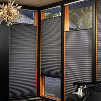 Modern Home Decor Single Cell Honeycomb Blinds Top Round Window Cellular Shades