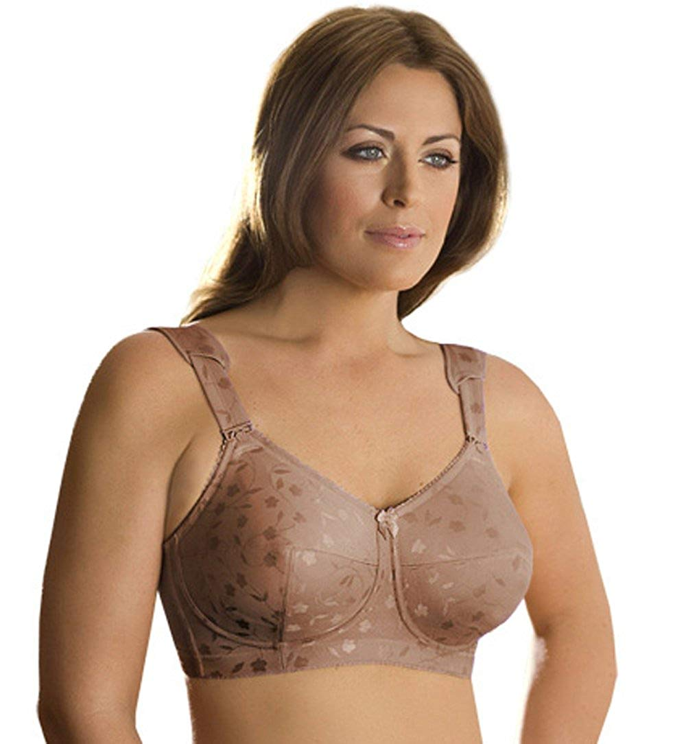 7940170c8d84f Elila Women s Plus Size Wireless Full-Coverage Jacquard Embroidered Bra