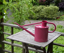large metal material watering can for garden decoration