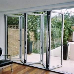 Roomeye folding door aluminum glass bi folding door soundproof
