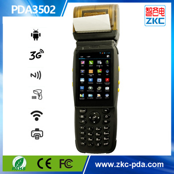 ZKC 3G NFC Best restaurant wireless ordering pda with GPRS/wifi/bluetooth/rfid-----PDA3502