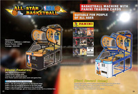 Sealy 2015 new coin operated arcade basketball game machine / hoop fever basketball game outdoor / indoor street basketball game