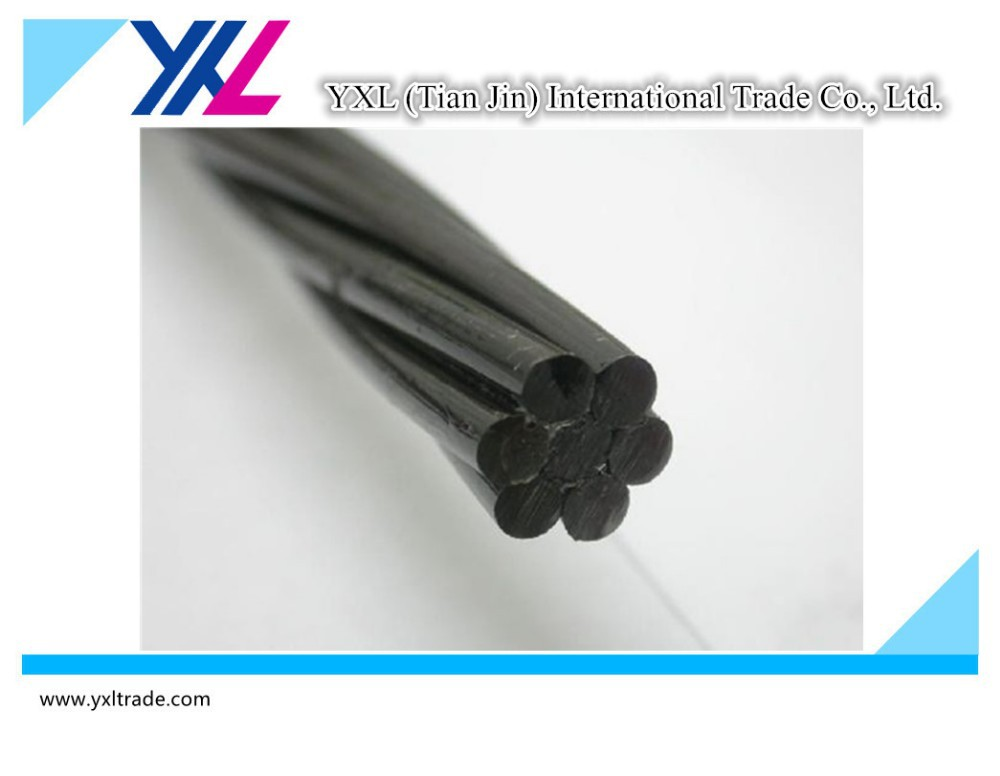 7-wire HM 12.7mm filled epoxy prestressed steel pc strand PC wire