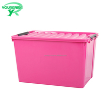 wholesale home use rose red plastic 60 liter logistic storage containers for sale
