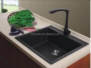 quartz stone black undermount corner kitchen sinks, artificial quartz  kitchen sink