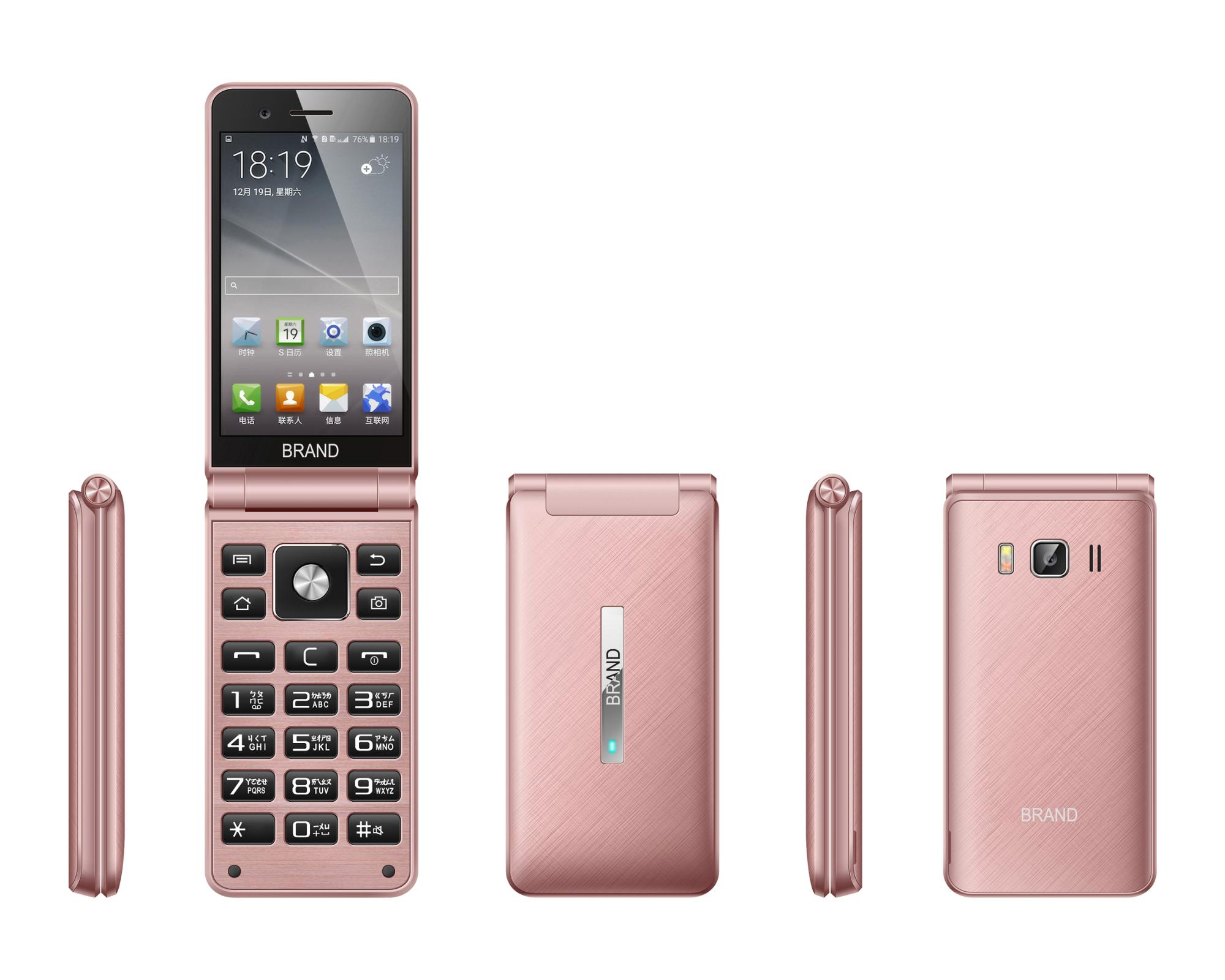 4inch 4g Lte Flip Phone Touch Screen Android System - Buy Flip